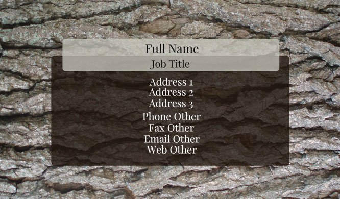 Grey Stone Business Card Template